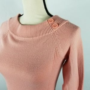 Takeout | Peach Boatneck Ribbed Sweater